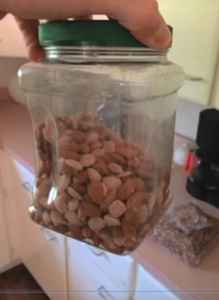 Low Carb Weight Loss Jar of Almonds