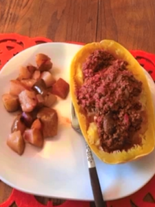 Low Carb Weight Loss Spaghetti Squash with Baked Apples
