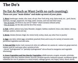 How to Lose Weight: The Do's